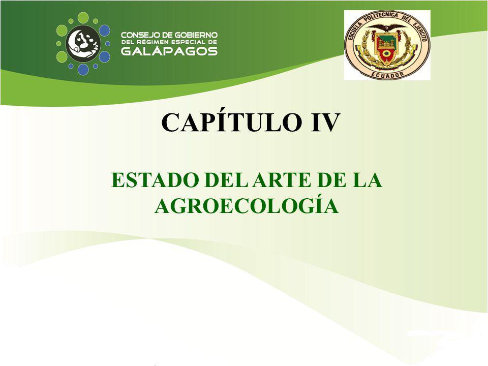 ESTADO DEL ARTE DE LA AGROECOLOGÍA