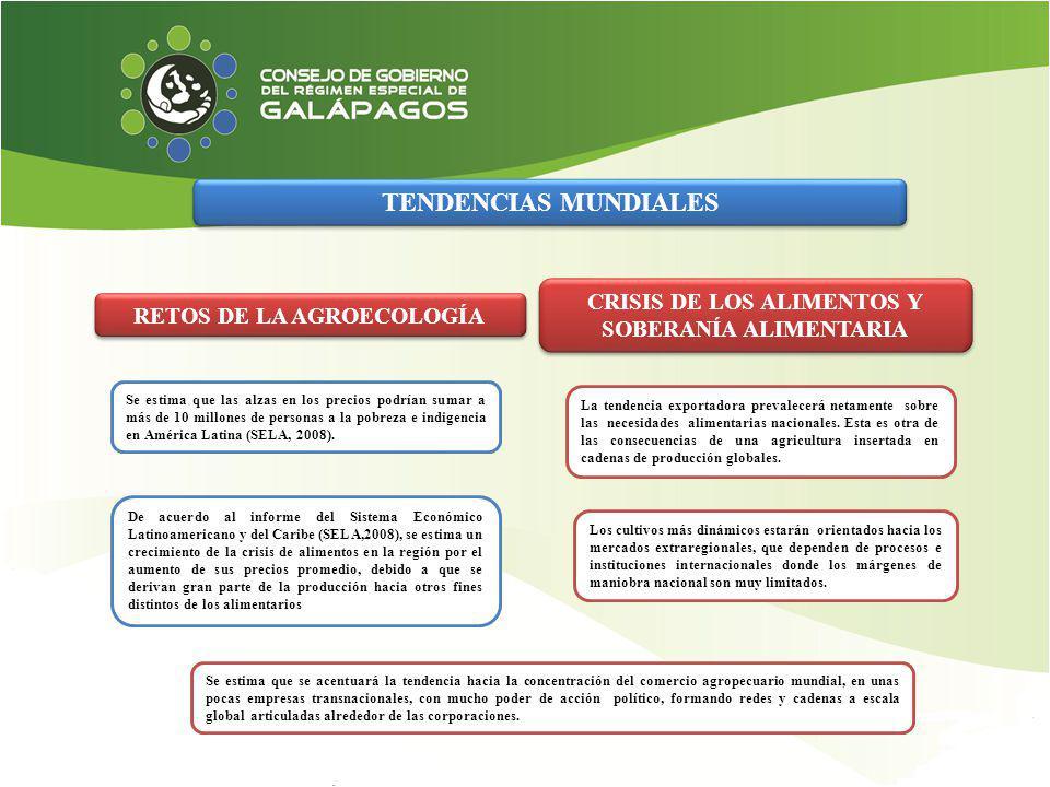TENDENCIAS MUNDIALES CRISIS DE LOS ALIMENTOS Y SOBERANÍA ALIMENTARIA. RETOS DE LA AGROECOLOGÍA.