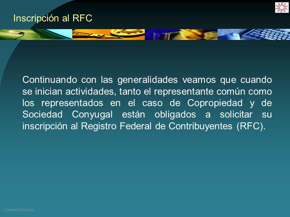 Inscripción al RFC
