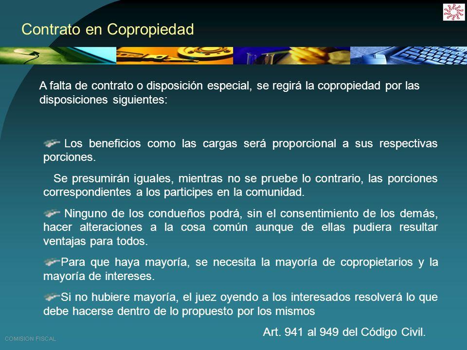 Contrato en Copropiedad