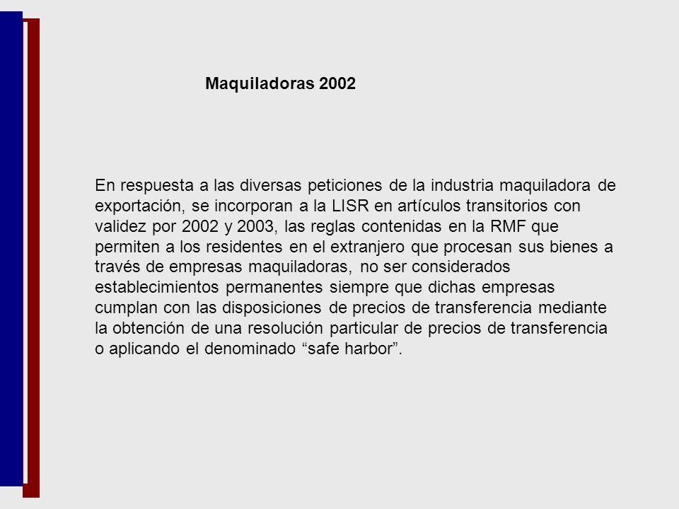 Maquiladoras 2002