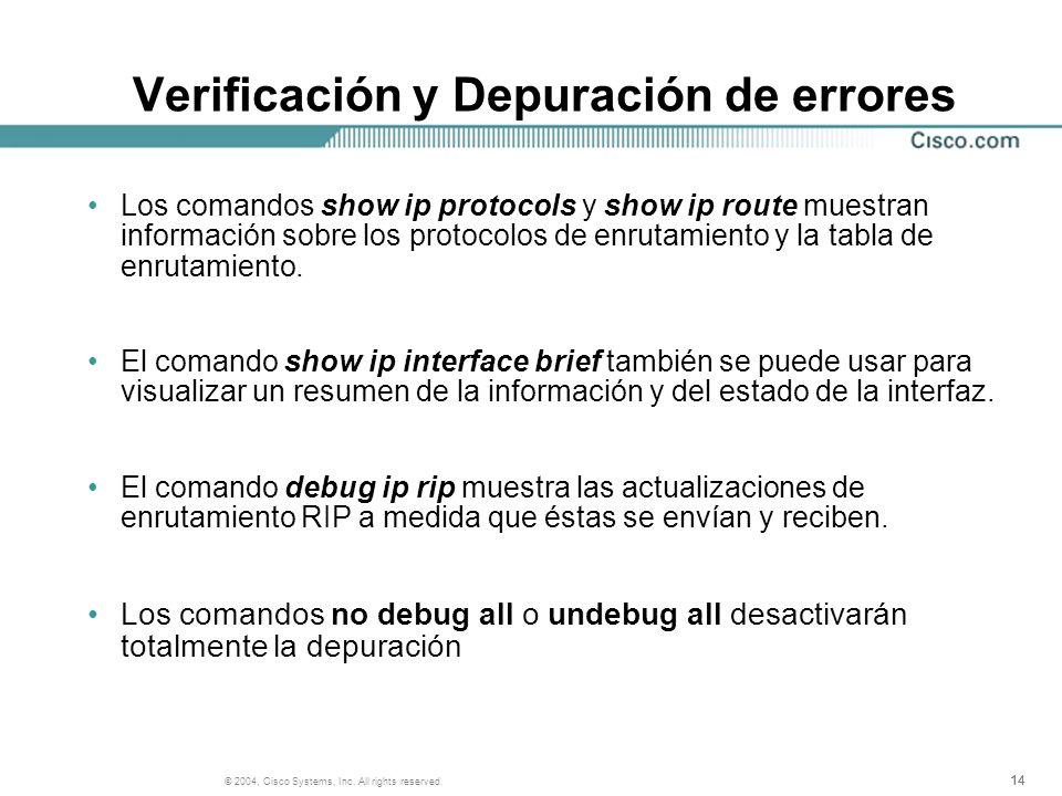 Verificación y Depuración de errores