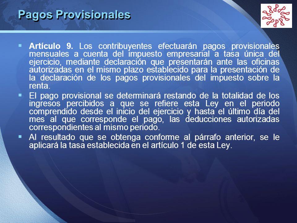 Pagos Provisionales
