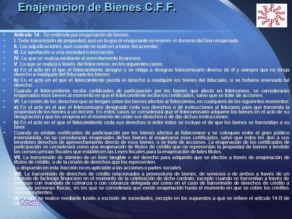 Enajenacion de Bienes C.F.F.