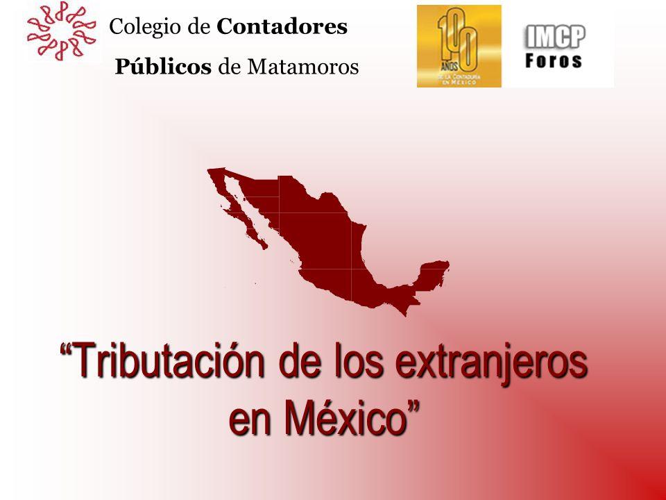 Tributación de los extranjeros en México