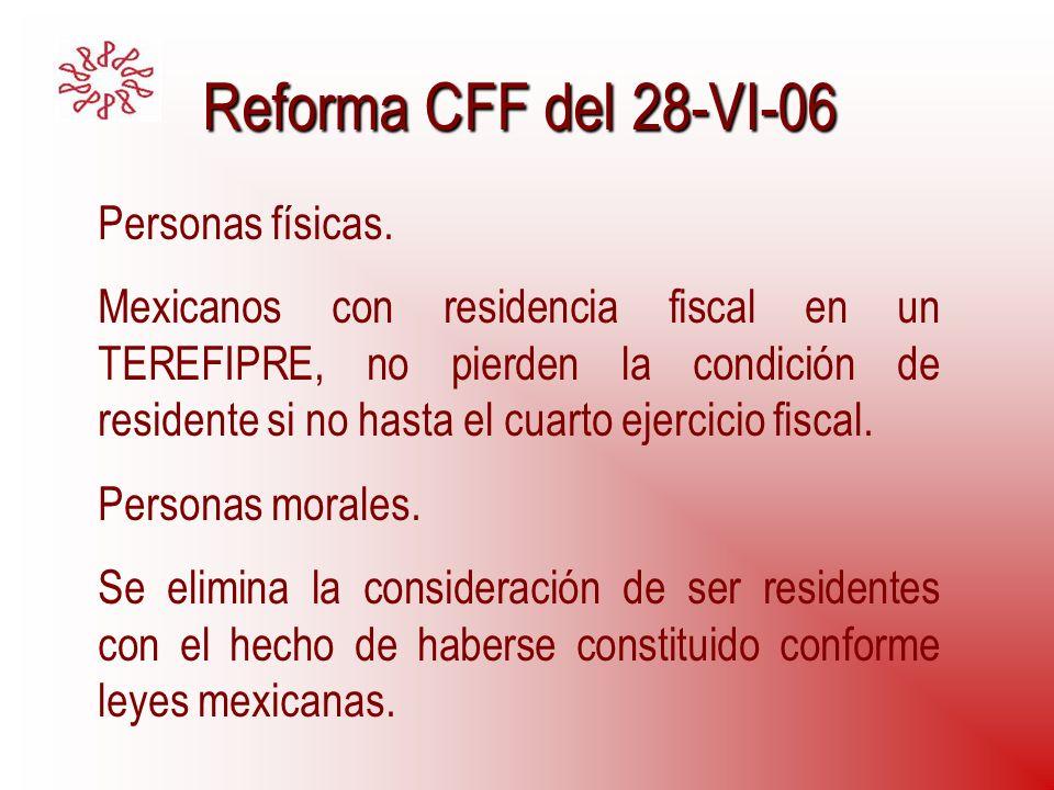 Reforma CFF del 28-VI-06 Personas físicas.