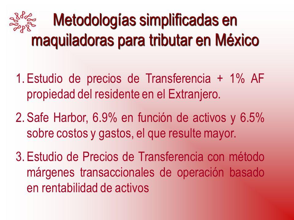 Metodologías simplificadas en maquiladoras para tributar en México