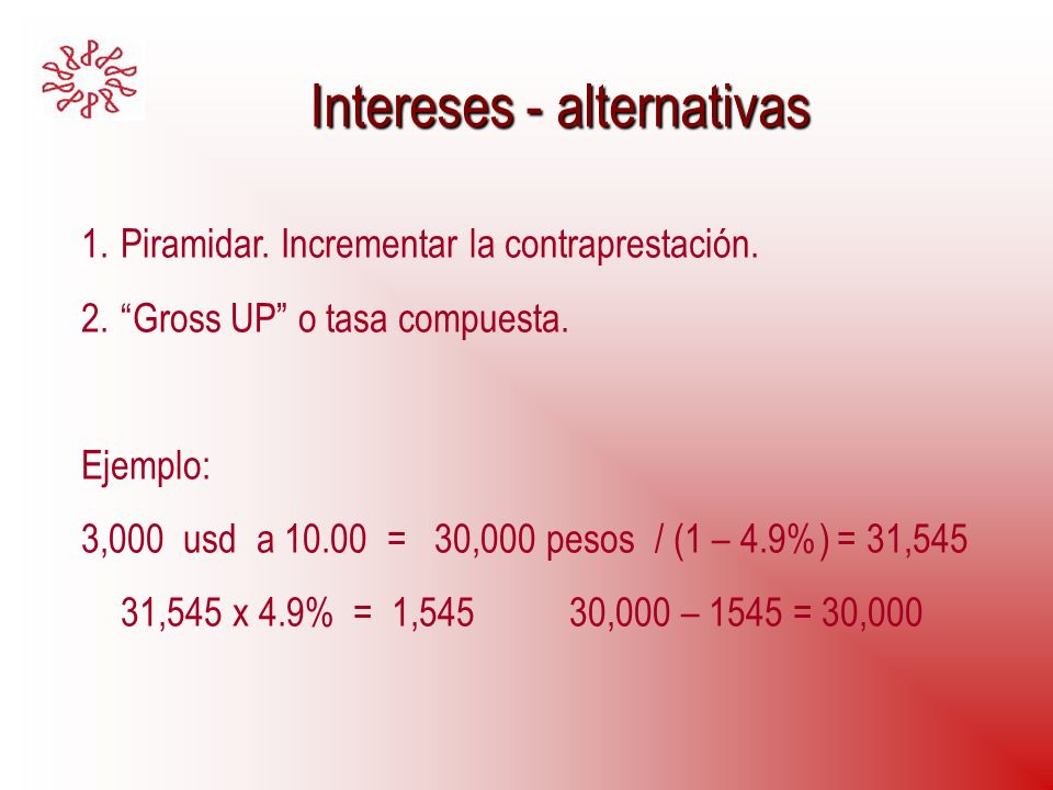 Intereses - alternativas