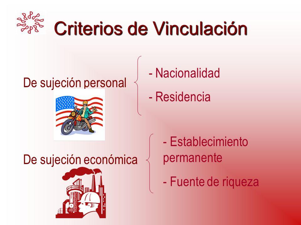 Criterios de Vinculación
