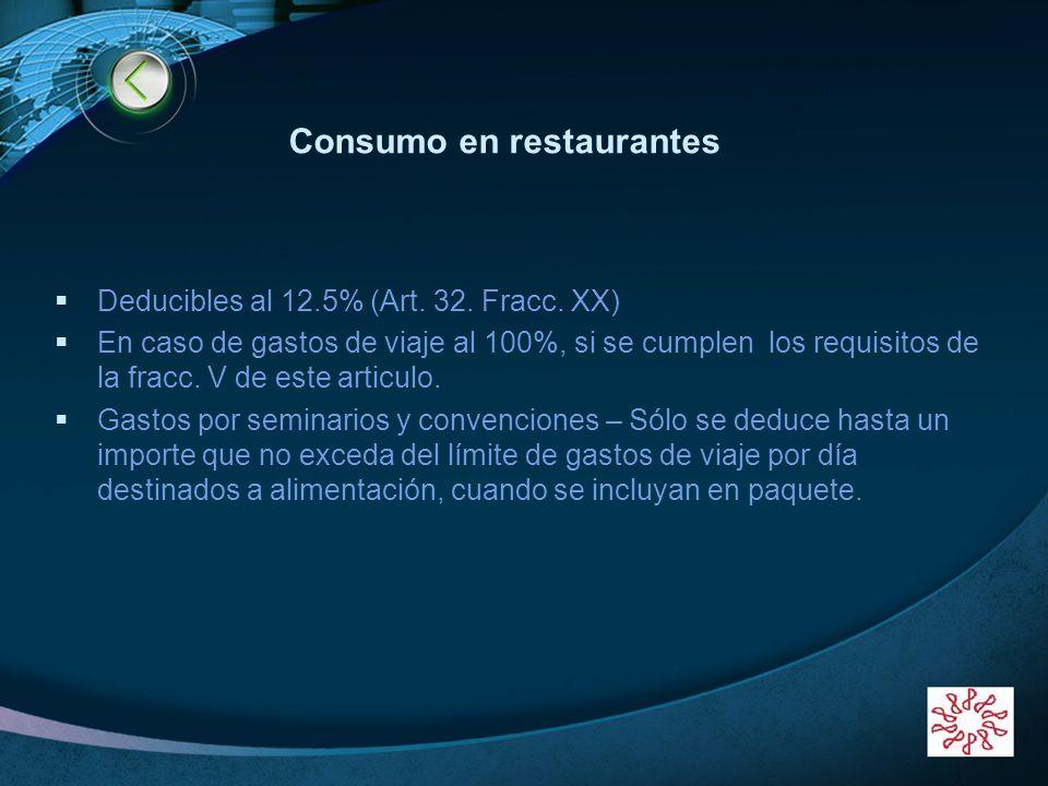 Consumo en restaurantes