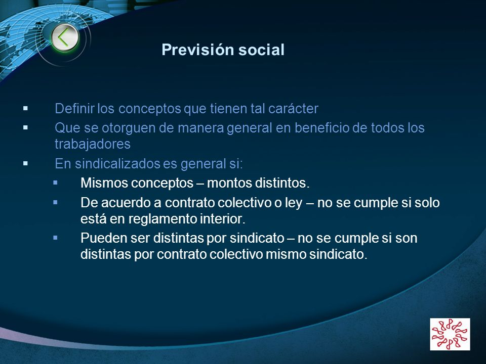 Previsión social Definir los conceptos que tienen tal carácter