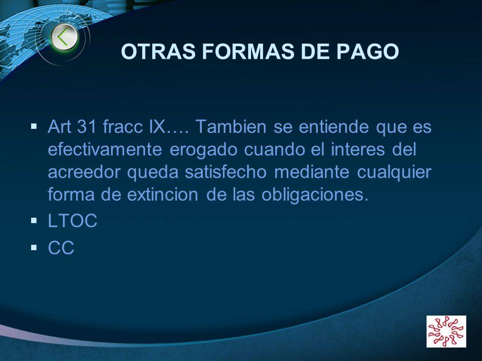 OTRAS FORMAS DE PAGO