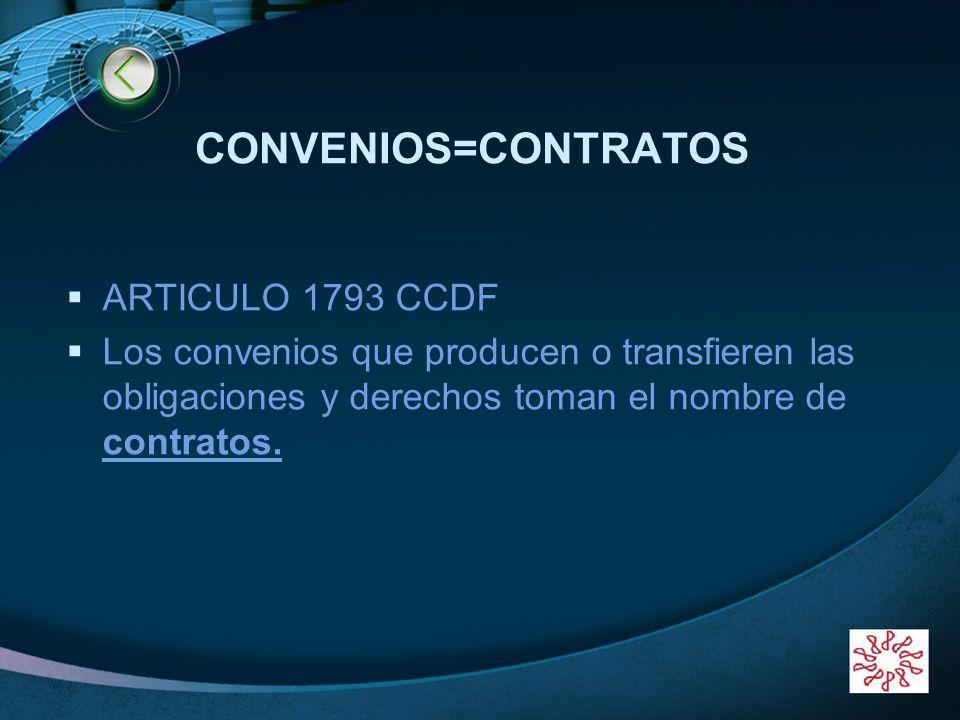 CONVENIOS=CONTRATOS ARTICULO 1793 CCDF