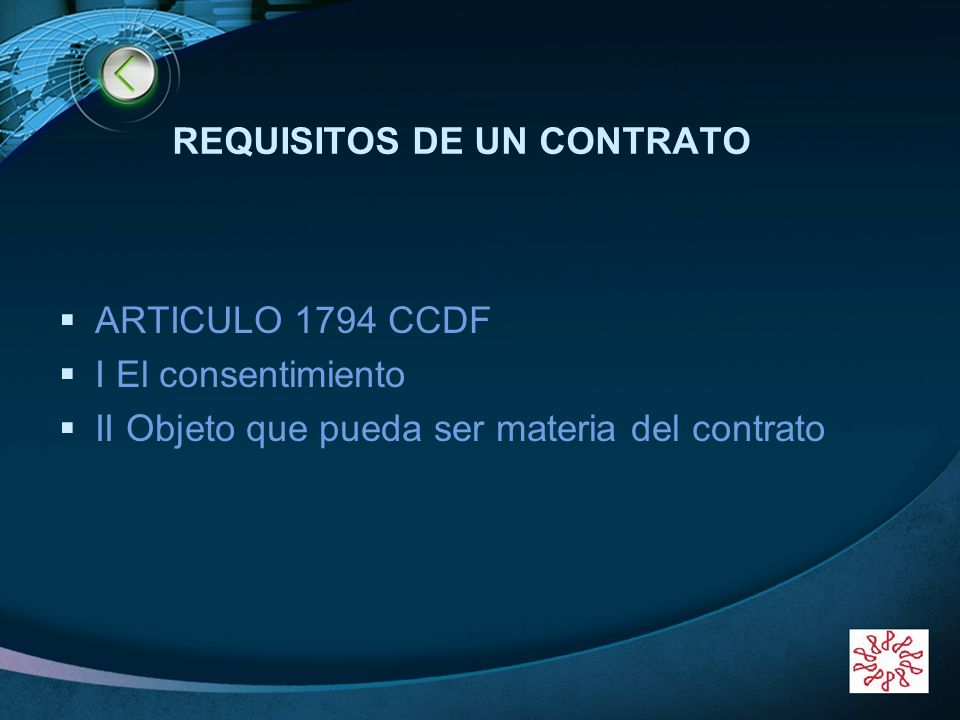 REQUISITOS DE UN CONTRATO