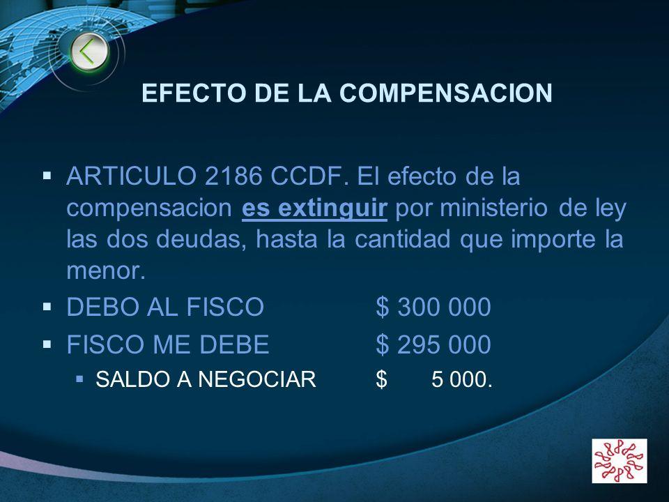 EFECTO DE LA COMPENSACION