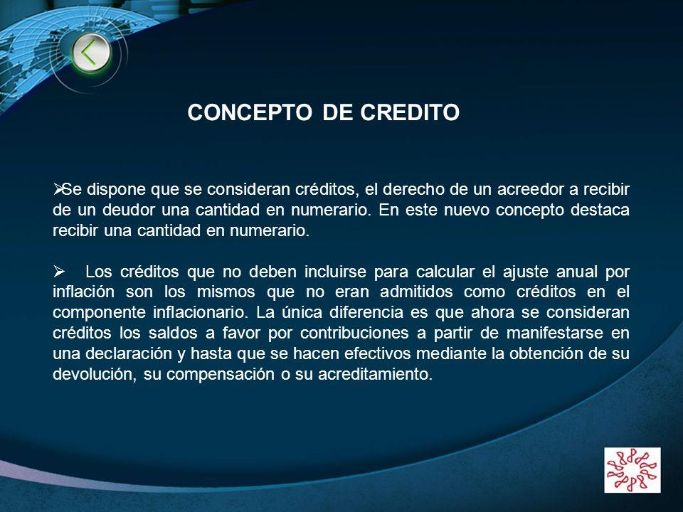 BIENVENIDOS!!!!!! CONCEPTO DE CREDITO.