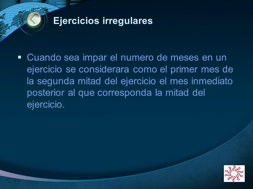 Ejercicios irregulares