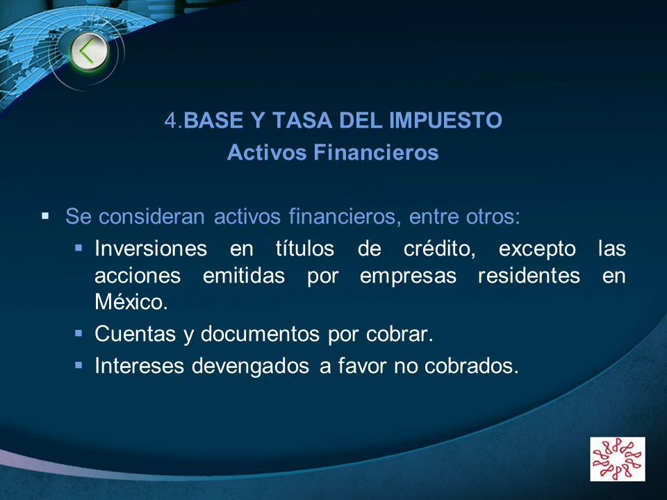 4.BASE Y TASA DEL IMPUESTO