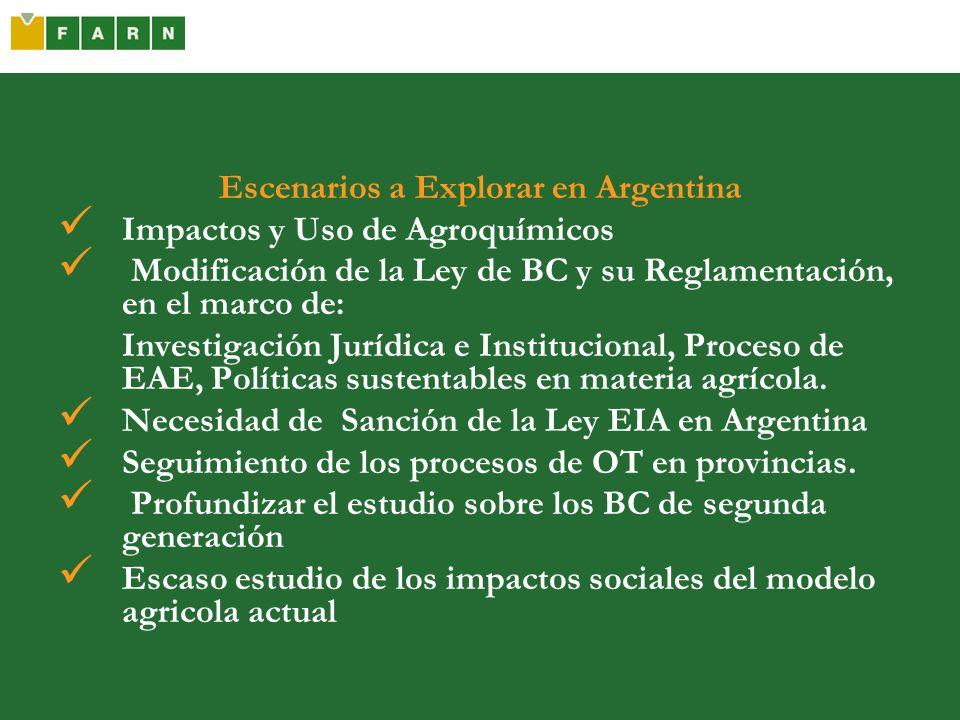 Escenarios a Explorar en Argentina