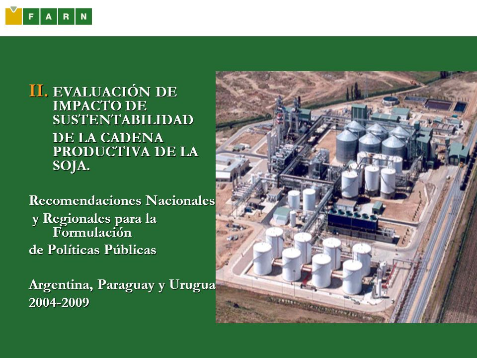 EVALUACIÓN DE IMPACTO DE SUSTENTABILIDAD