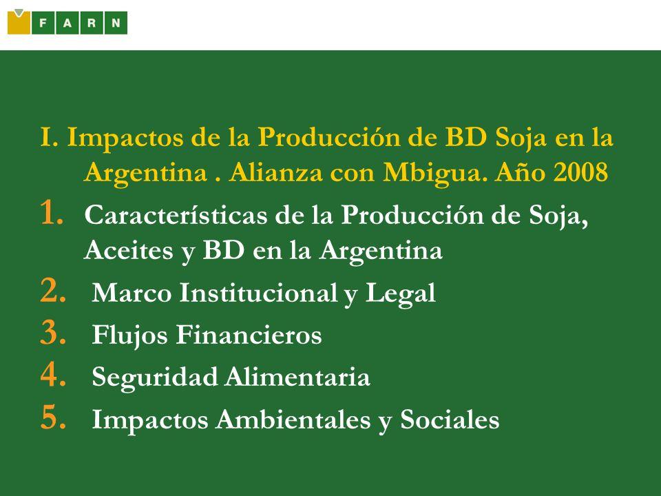 I. Impactos de la Producción de BD Soja en la Argentina