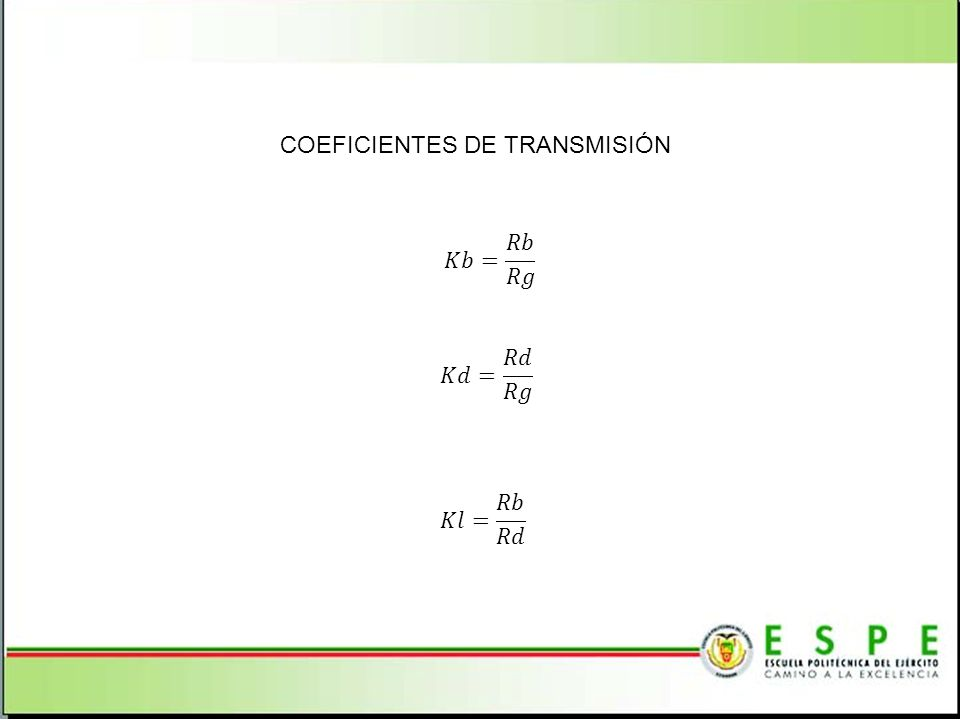 COEFICIENTES DE TRANSMISIÓN