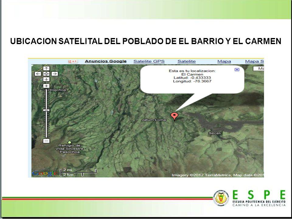 UBICACION SATELITAL DEL POBLADO DE EL BARRIO Y EL CARMEN