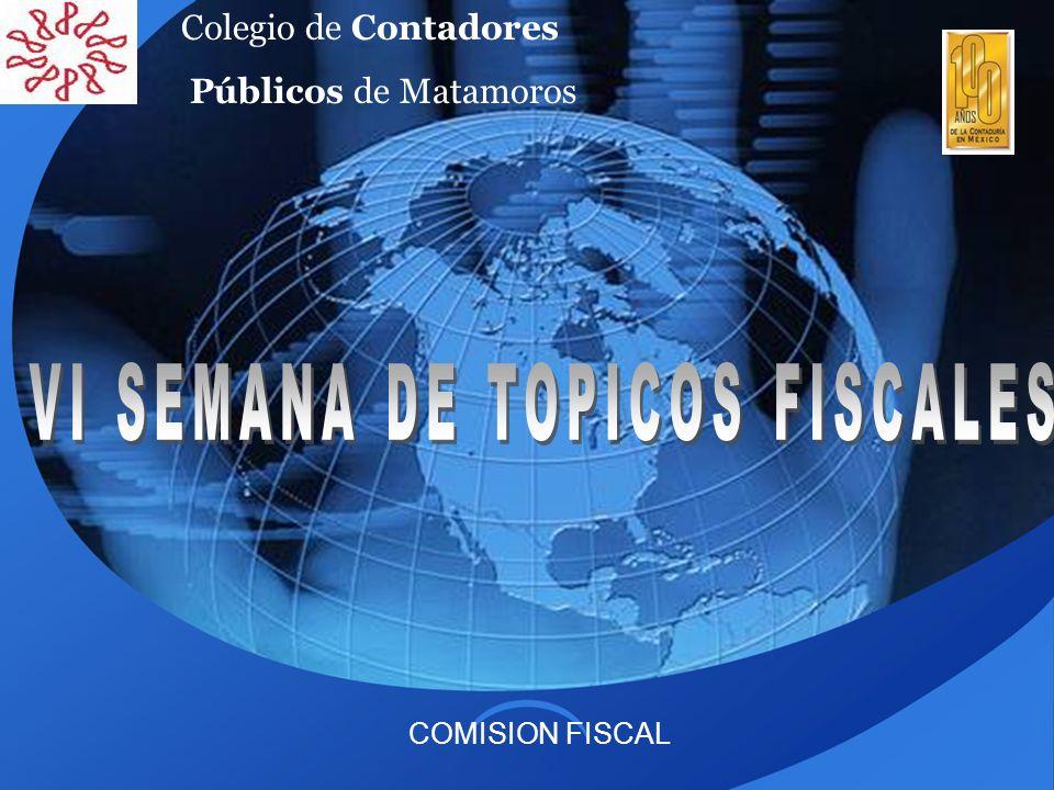 VI SEMANA DE TOPICOS FISCALES
