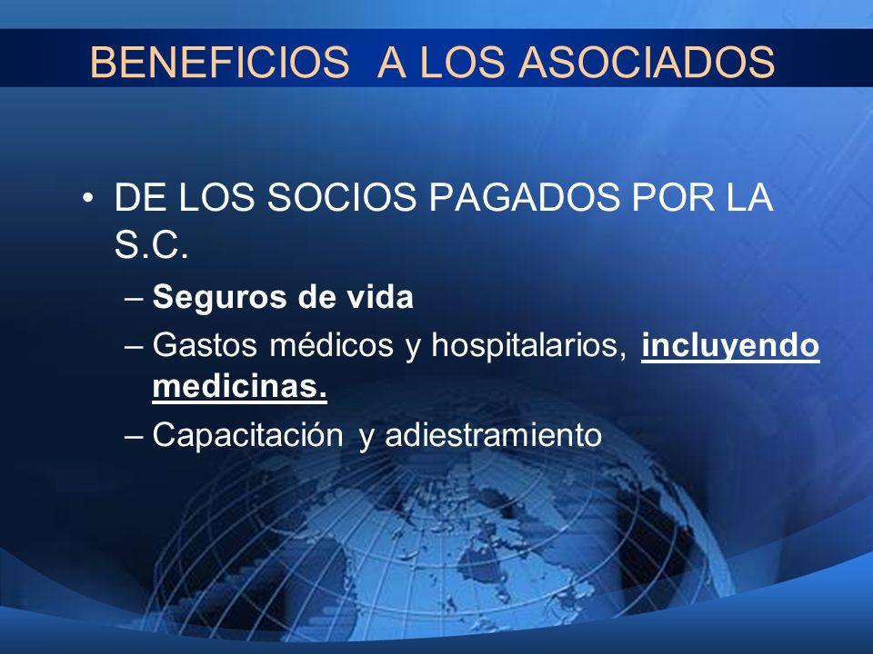 BENEFICIOS A LOS ASOCIADOS