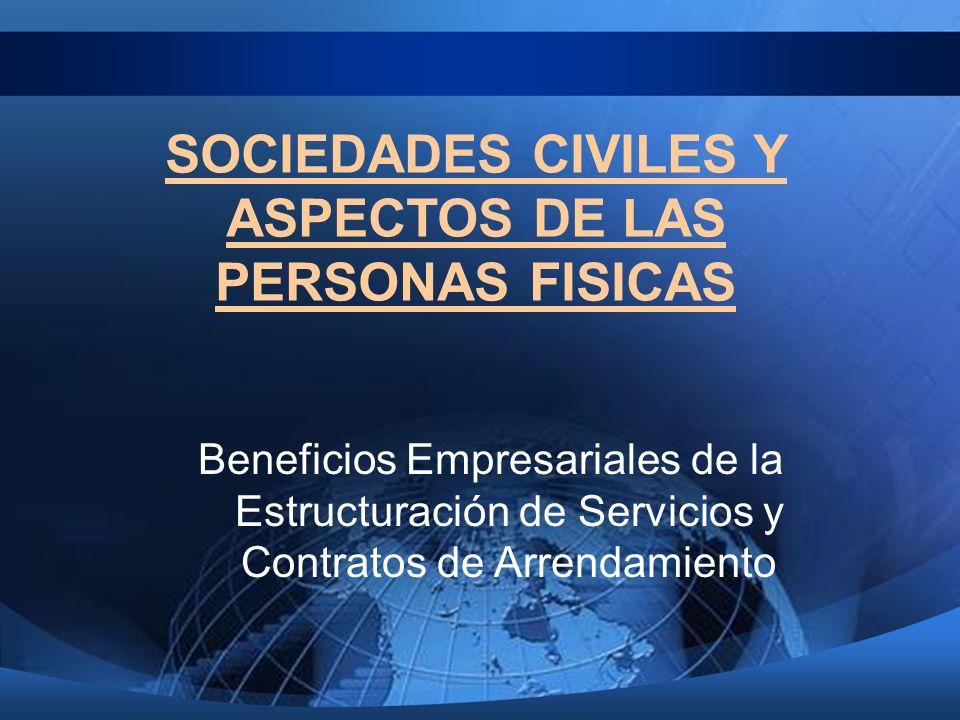 SOCIEDADES CIVILES Y ASPECTOS DE LAS PERSONAS FISICAS