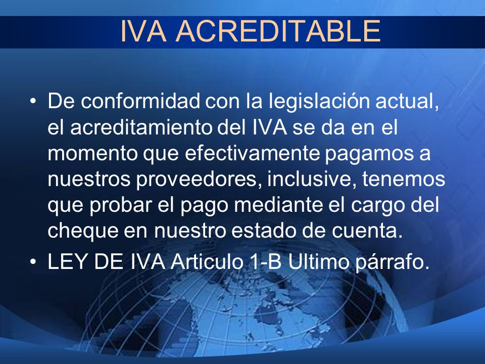 IVA ACREDITABLE
