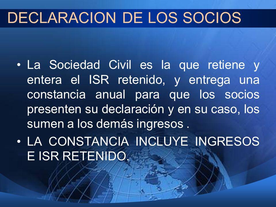 DECLARACION DE LOS SOCIOS