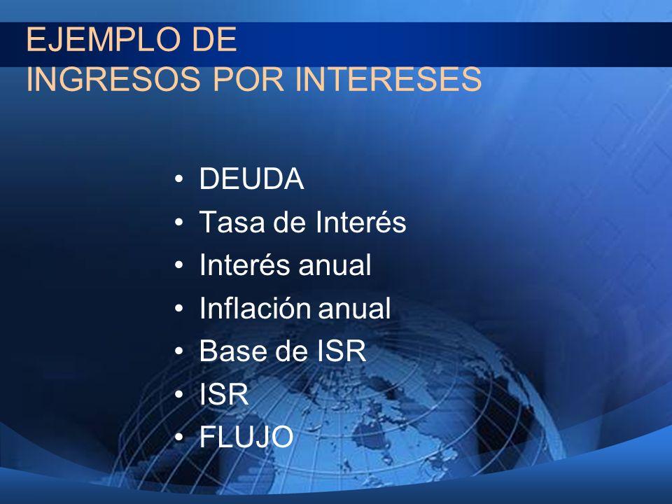 EJEMPLO DE INGRESOS POR INTERESES