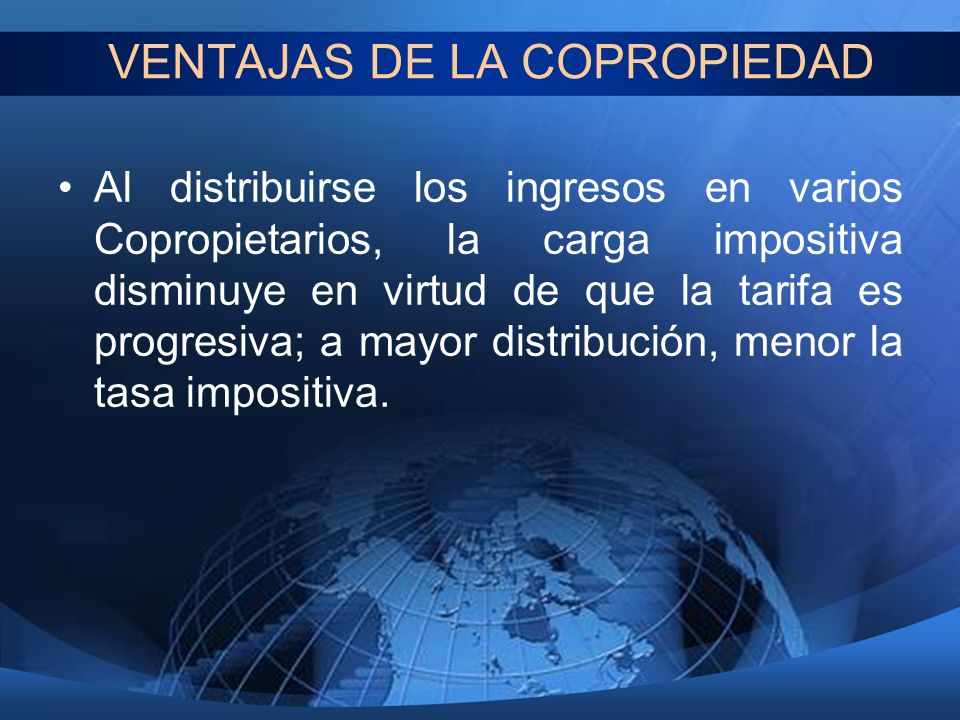 VENTAJAS DE LA COPROPIEDAD
