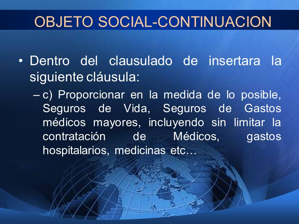 OBJETO SOCIAL-CONTINUACION