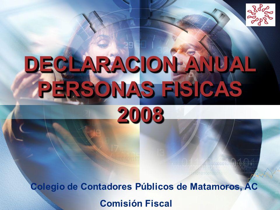 DECLARACION ANUAL PERSONAS FISICAS 2008