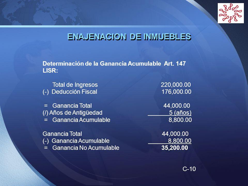ENAJENACION DE INMUEBLES