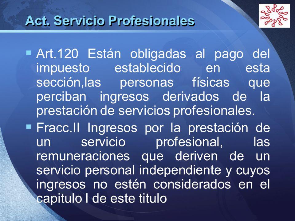 Act. Servicio Profesionales
