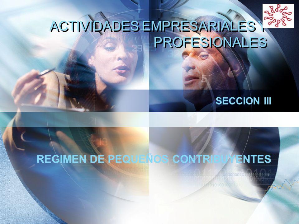 ACTIVIDADES EMPRESARIALES Y PROFESIONALES