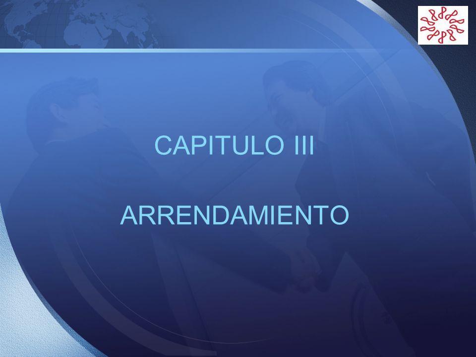 CAPITULO III ARRENDAMIENTO
