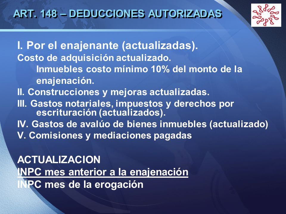 ART. 148 – DEDUCCIONES AUTORIZADAS