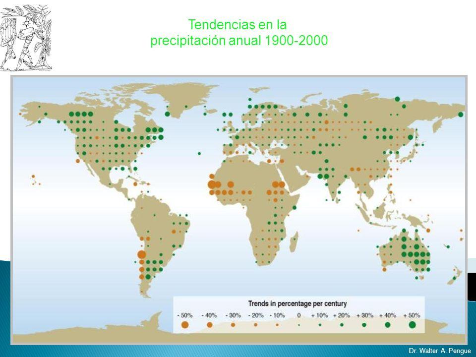 Tendencias en la precipitación anual 1900-2000