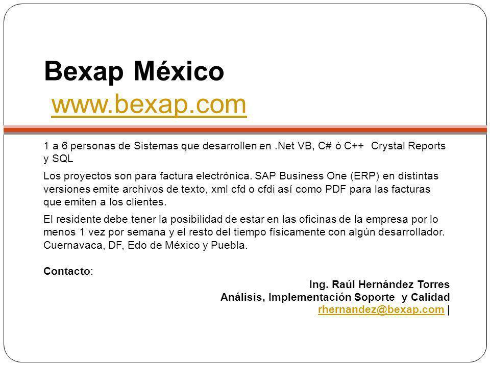 Bexap México www.bexap.com