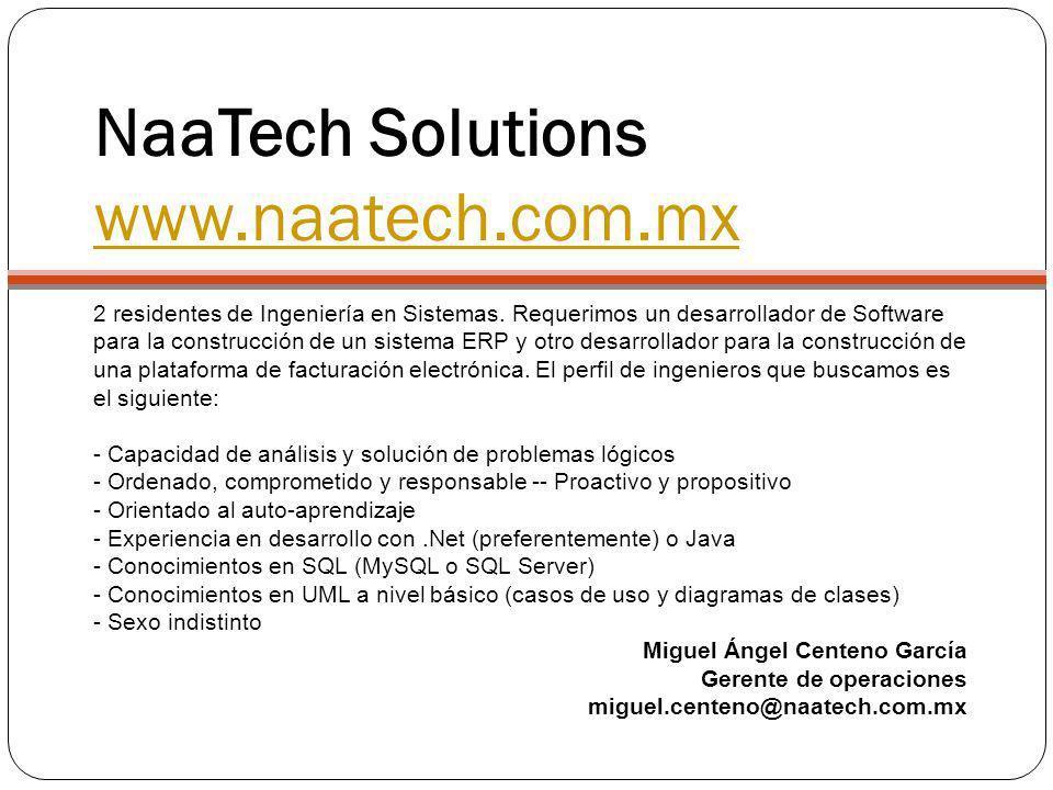 NaaTech Solutions www.naatech.com.mx