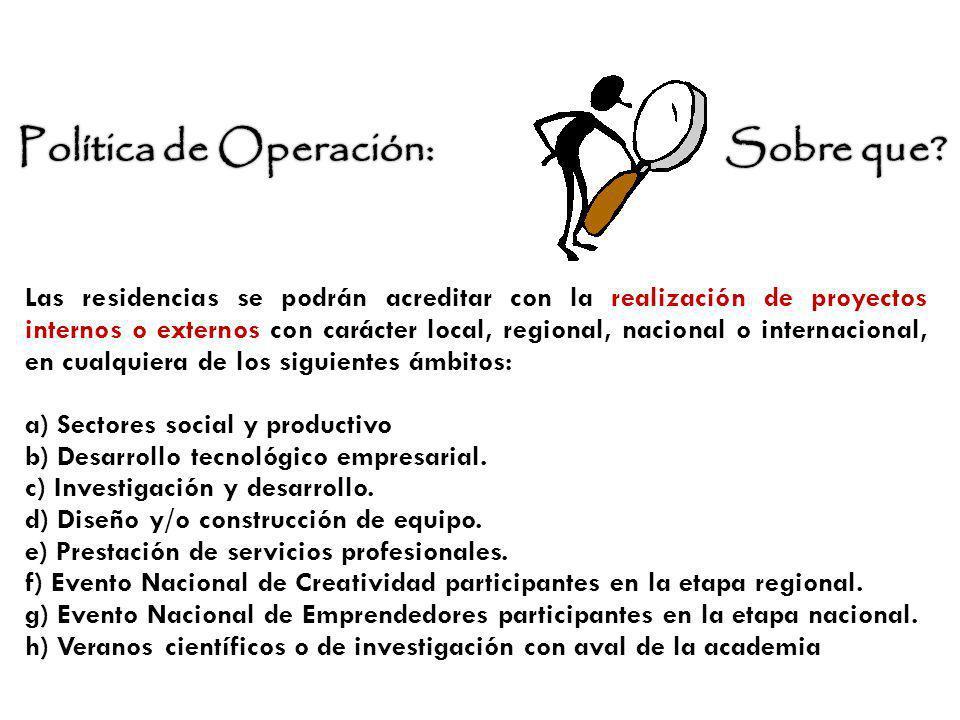Política de Operación: Sobre que