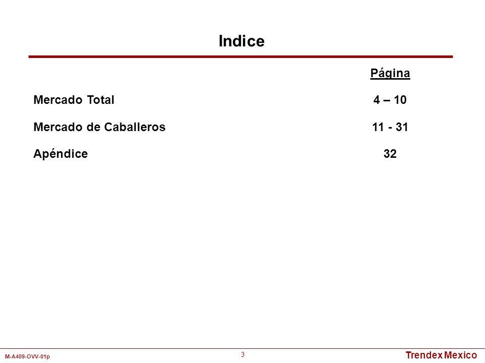 Indice Mercado Total Mercado de Caballeros Apéndice Página 4 – 10