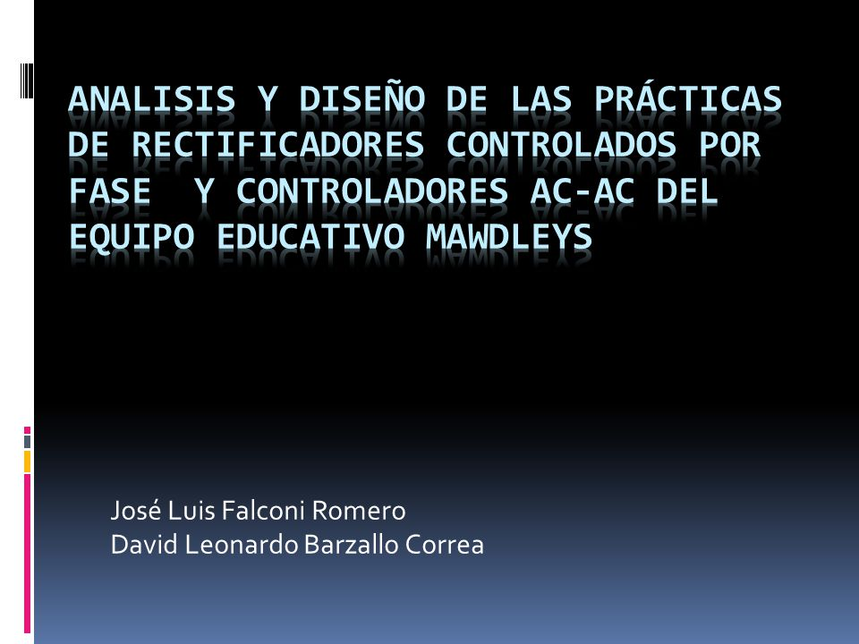 José Luis Falconi Romero David Leonardo Barzallo Correa