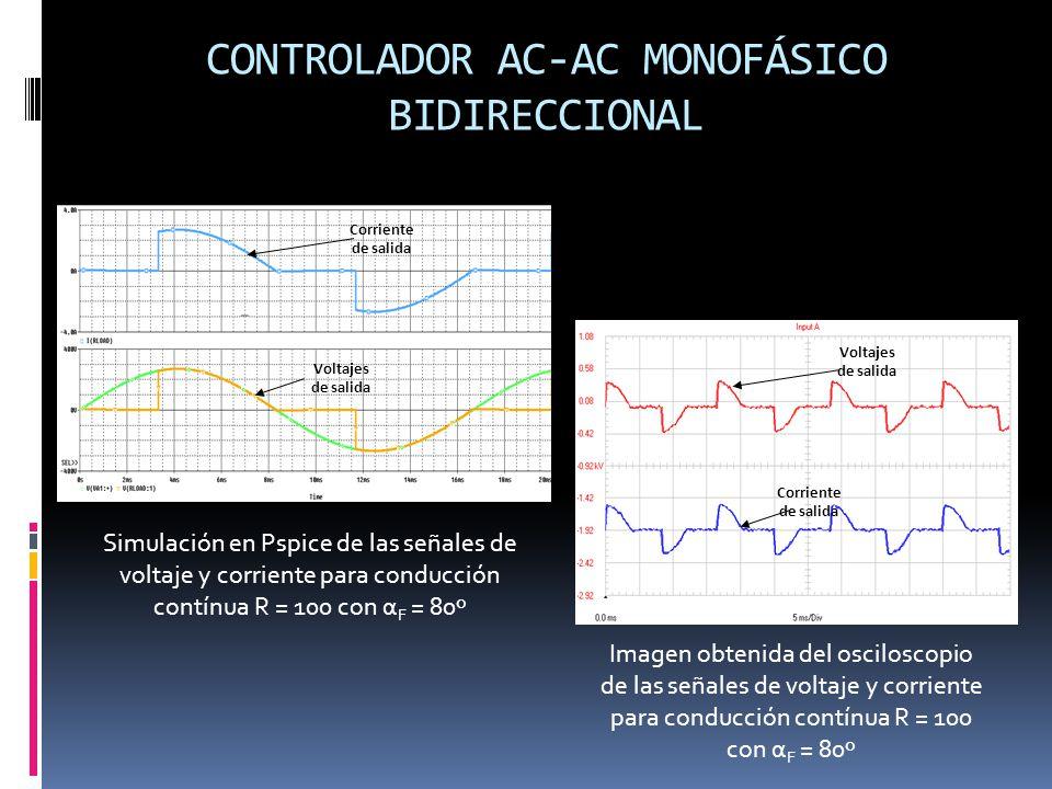CONTROLADOR AC-AC MONOFÁSICO BIDIRECCIONAL