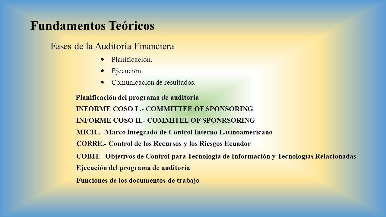 Fundamentos Teóricos Fases de la Auditoría Financiera Planificación.