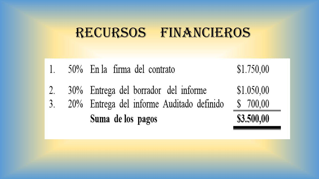 RECURSOS FINANCIEROS